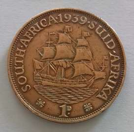 1939 1D South African Penny Bronze