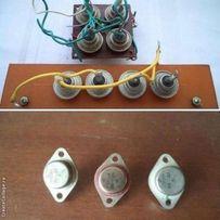 Радиодетали: тиристор КУ202Е, диоды Д232А, транзисторы КТ828Б, КТ846В