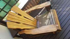 Uniquely Made Wooden Outdoor Deck Chairs