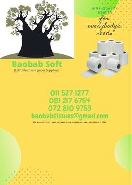 Baobab Soft Toilet Tissue paper suppliers