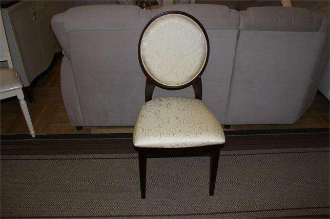 Krzesła krzesło klasyczne JFSC orzech ciemny tkanina ecrue żakard Góra Kalwaria - image 2