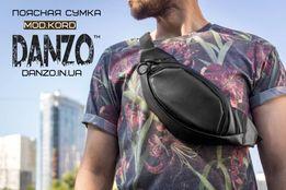Поясная кожаная сумка через плечо mod.KORD бананка мужская пояс грудь