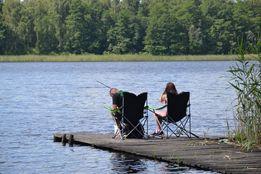 GRZYBY I RYBY w puszczy nad jeziorem w lubuskim