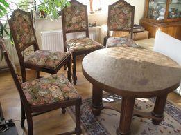 4 krzesła antyk dąb