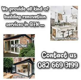 All kind of building renovation services
