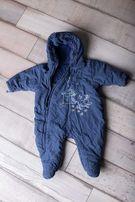 Kombinezon niemowlęcy zimowy niebieski 0-3miesiące 62 Marks&Spencer