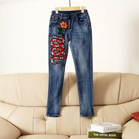 Женские джинсы с нашивками размер 28