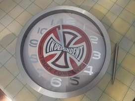 Wall Clock (white face with custom sticker)