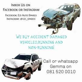 We buy accident damaged cars,running or non running