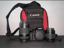 Canon EOS 1300D starter kit with 2 lenses and a bag