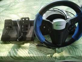 Pc steering wheel with pedals
