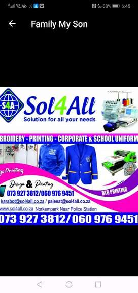 Embroidery and printing