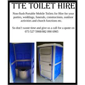Portable Non-flush Mobile Toilets for Hire