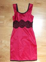 Elegancka fuksjowa sukienka 38