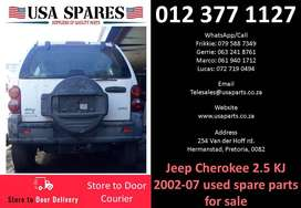 Jeep Cherokee 2.5 KJ 2002-07 used spare parts for sale