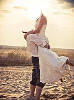 Przepiękna suknia ślubna. Hiszpańska koronka! rozmiar 36 ecru