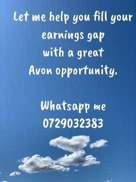 Fill your earnings gap with selling avon on your own time