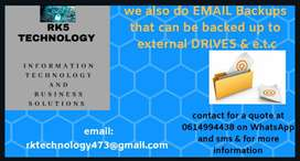 Computer service -email backup service
