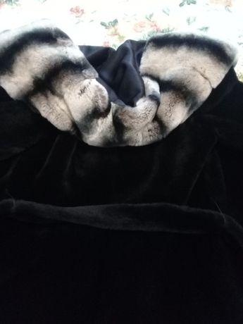 мутоновая шубка с шиншилловым капюшоном Каменец-Подольский - изображение 4