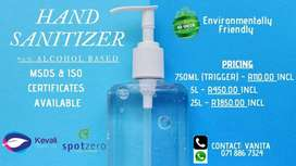 Hand and Surface Sanitizer Alcohol Based