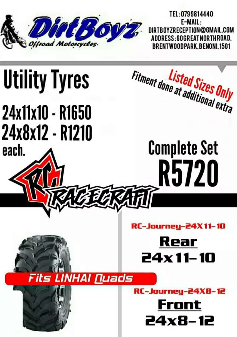 Tyres for utility quads 0