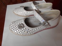 Кожаные туфельки для девочки 30р 19,5см