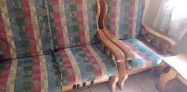 6 seater aokwood sofas for sale