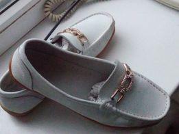 Женские туфли-мокасины, кожа