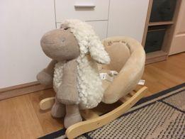Детское кресло-качалка Rock My Baby 3в1 Овечкка /Деревянная и плюшевая