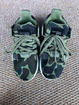 Adidas camo shoes and black equipment version shoes
