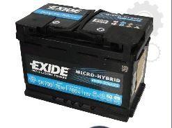 Akumulator Exide EK700 AGM (Start-stop) Promocja !!
