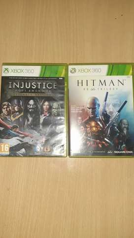Xbox 360 Hitman Trilogy and Injustice Ultimate edition
