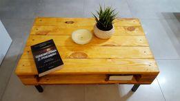 Stolik kawowy ręcznie robiony drewniany, drewno, industrialny, LOFT