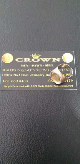 Need Cash!Crown Gold Buyers and Pawn Broker's