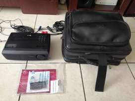 LG projector with remote control and leather genuine bag