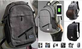 Gifts! Laptop Bag /Canvas Backpack with USB Charging