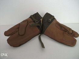 Rękawica wojskowa gruba skóra/brezent