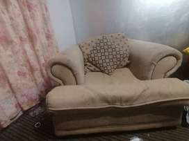 3 piece lounge set. 1 seater 2 seater and 3 seater
