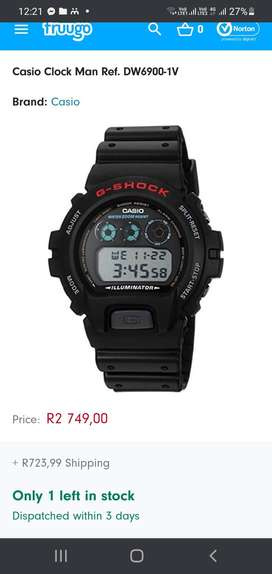 Casio shock watch and a Beverly hills watch