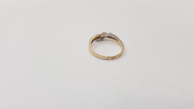 Piękny złoty pierścionek/ 585/ 2,19 gram/ R16/ sklep Gdynia/ Gdynia - image 4