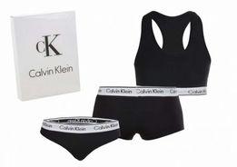 3 pack bielizna damska Calvin Klein czarny i szary S-XL