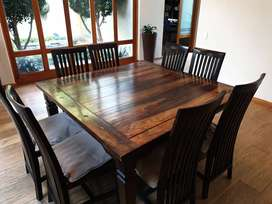 8 Seater square dining room suite