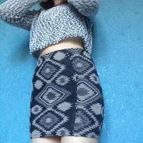 Topshop.Трендовая мини юбка резинка с принтом .