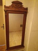 Stare , antyczne lustro - TREMO - piekna rama , fazowane szkło z epoki
