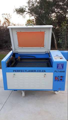 LASER CUTTER:  PLT-6040 XTREME 100 WATT WITH ROTARY ATTACHMENT AND IND