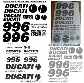 Ducati 996 decals stickers graphics sets