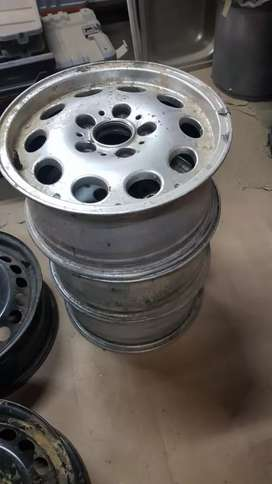 REDUCED BMW steelies ...3 silver and 2 black