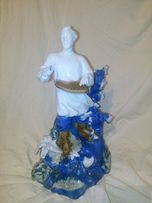 Фарфоровая статуэтка садко с гуслями, 34 см