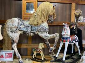 Wooden horse ornaments (prices from R1500 upwards)