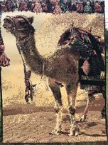 """Текстиль натуральный тканный 120х90 """"Лошади"""", """"Верблюд"""" пр-во Египет"""